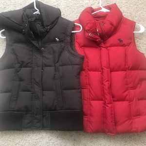 Two Youth / Girls Puffy Vests Abercrombie Fitch XL